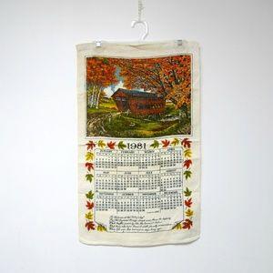 VTG 1981 covered bridge linen calendar